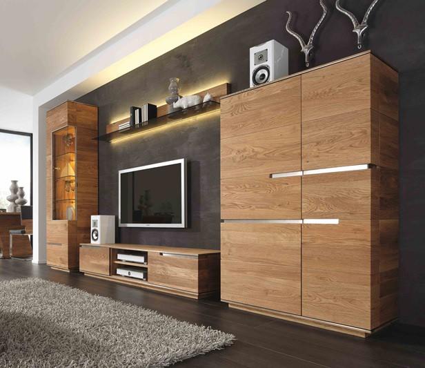 wohnwand eiche rustikal modern interessante ideen f r die gestaltung eines raumes. Black Bedroom Furniture Sets. Home Design Ideas