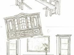 Zeichnungen Eichenmöbel