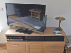 TV Schrank Eiche massiv