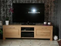 TV Schrank mit Schubladen Eiche geölt