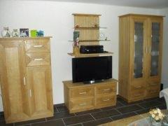 Wohnzimmermöbel Modell Kubus eiche geölt