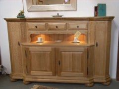 sideboard rhede eiche rustikal mit beleuchtung