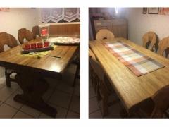 Esstisch und Stühle , Oberflächenbearbeitung