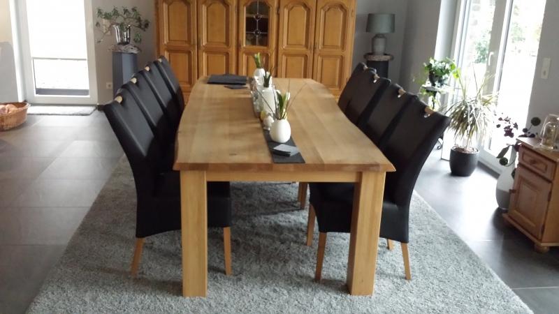 eiche massiv tisch und stuhl eichenscheune bocholt. Black Bedroom Furniture Sets. Home Design Ideas