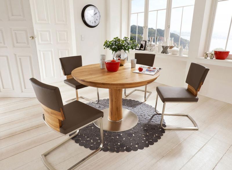 Eiche massiv tisch und stuhl eichenscheune bocholt for Esstisch massiv rund