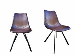 Schalenstuhl Loft mit Lederbezug und schönen Ziernähten , perfekter Sitzkompfort