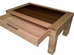 Tisch wildeiche mit Schublade